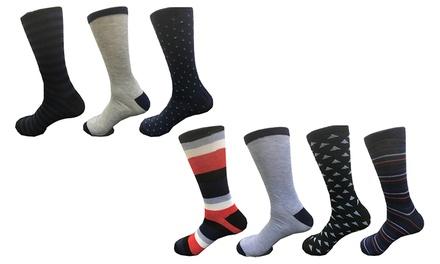 7 paia di calze da uomo con colori assortiti 600W Chicago disponibili in 2 taglie