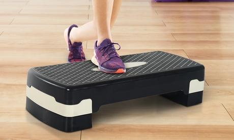 Plataforma de aeróbic y fitness tipo tabla HomCom