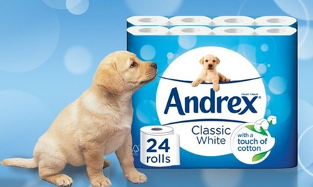 24, 48 or 96 Rolls of Andrex Classic White TwoPly Toilet Paper