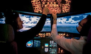 Aerotask: 30, 90, 150 oder 240 Min. Flug-Erlebnis im Flugsimulator bei Aerotask Flugsimulator Essen/Mühlheim (bis zu 45% sparen*)