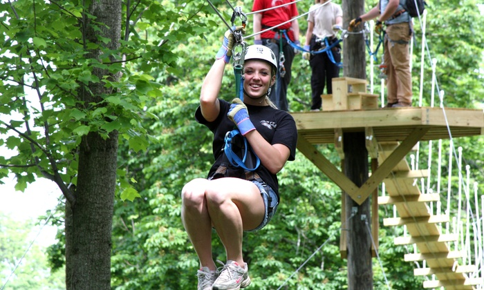 Up to 30% Off Zipline Tour or Ropes Course