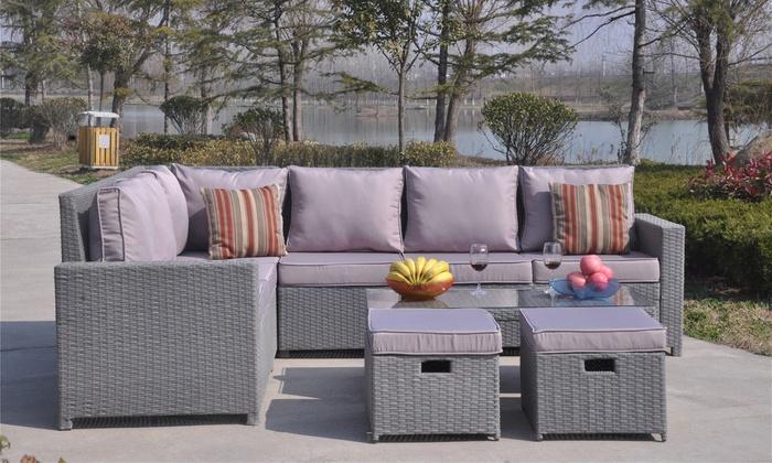 Rattan Sofa Set Groupon