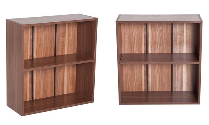Homcom Two-Tier Bookshelf