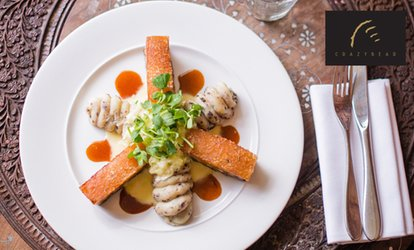 image for English or Thai Signature Menu with Premium Champagne at The Crazy Bear from £29.50 (up to 65% off)