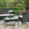4-Pc Rattan Lounge Set, 4 Colours