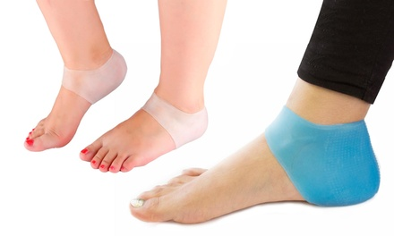 One, Two or Three Packs of Silicone Gel Heel Ankle Sleeves in Choice of Colour