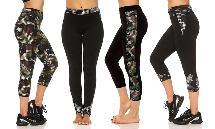 Women's Missy and Plus-Size Camo Activewear Leggings