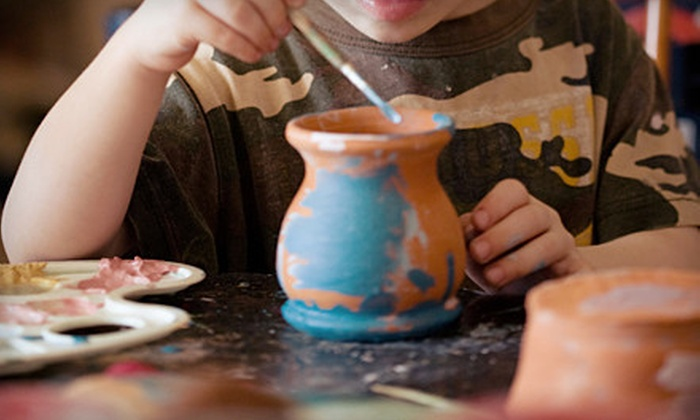 Cool Creations Pottery Studio & Cafe - Pacific Beach: Paint-Your-Own Pottery or BYOB Class for Two at Cool Creations Pottery Studio & Cafe (Up to 57% Off)