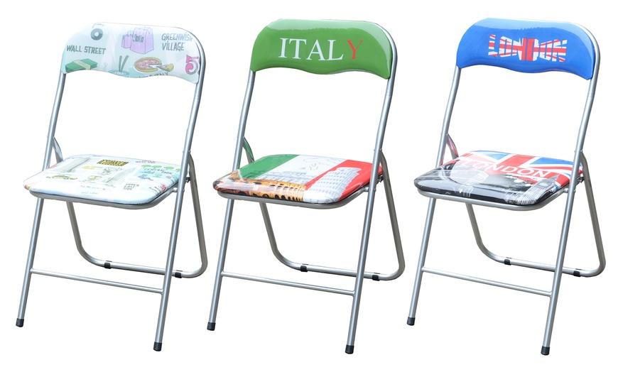 Set 6 sedie pieghevoli | Groupon