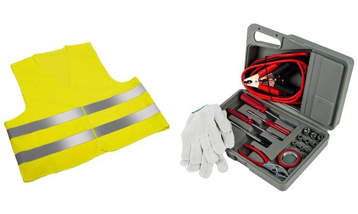 Gilet catarifrangente e kit emergenza