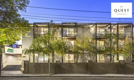 St Kilda: Stay for Two or Four with Parking, DVD Hire, Wi-Fi and Late Check-Out at 4* Quest St Kilda Bayside