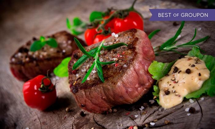Raff's On The Corner - Skerries: Sirloin Steak on the Stone For Two at Raff's On The Corner (48% Off)