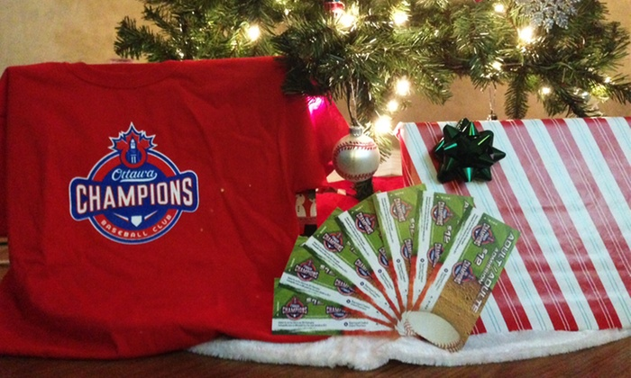 Ottawa Champions - Overbrook West - McArthur: Ottawa Champions Holiday Package with Seven 2016 Baseball Games and Souvenir Hat or T-Shirt