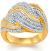 1/2 CTTW Diamond and Brass Ring by Brilliant Diamond