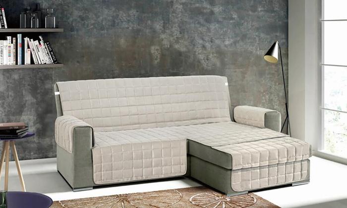 Copridivano trapuntato con penisola groupon - Copridivano per divano con penisola ...