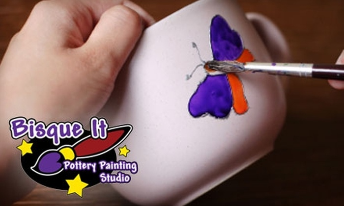 Bisque It Pottery Painting Studio - Fort Wayne: $7 for $15 Worth of Pottery and Studio Time at Bisque It Pottery Painting Studio