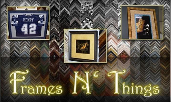 Frames N' Things - Temple Terrace: $40 for $100 Worth of Custom Framing at Frames N' Things