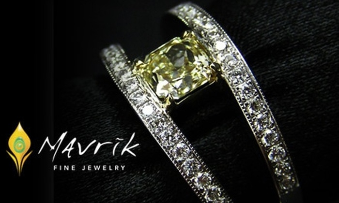 55 Off At Mavrik Fine Jewelry Groupon