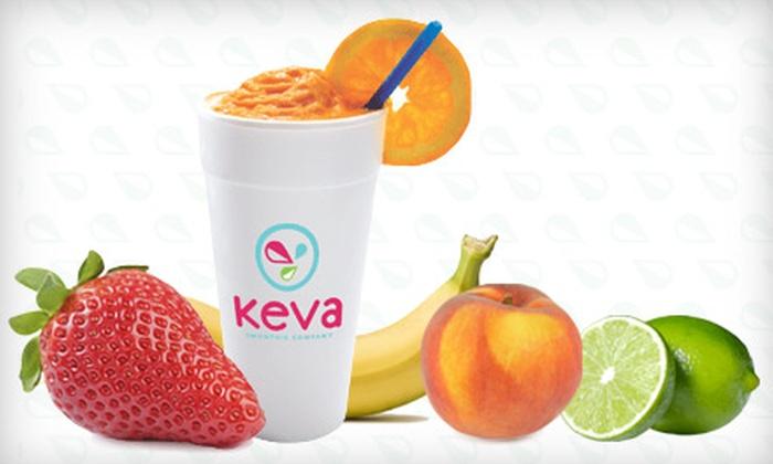 Keva Juice - El Paso: $9 for Four Fresh Fruit Smoothies at Keva Juice ($19.56 Value)