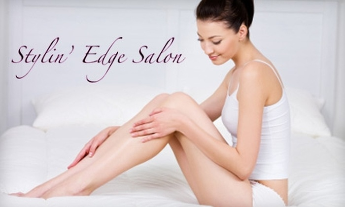 Stylin' Edge Salon - West Hartford: $30 for Spa Treatments ($65 Value) or $6 for $12 Worth of Waxing at Stylin' Edge Salon