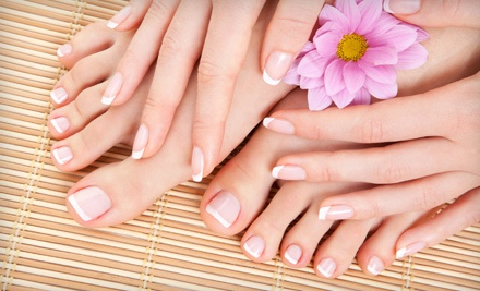 Shellac Manicure and a Spa Pedicure (a $90 Value) - Eden's Apple Salon & Day Spa in Salem