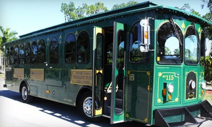 Dolphin Transportation Specialists - Central Naples: $10 for One Ticket to the Historic and Sightseeing Trolley Tour of Naples from Dolphin Transportation Specialists ($22 Value)