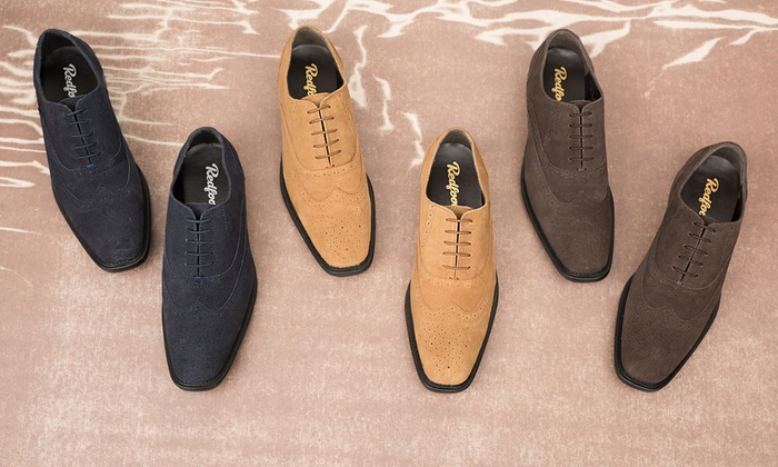 e332fce37c6ed Up To 64% Off Redfoot Suede Brogue Shoes | Groupon