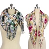 Floral Fringed Scarf