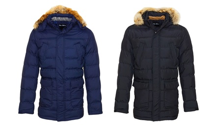 Pablo Malone Winter Jacket in Navy or Black for £49.99 With Free Delivery