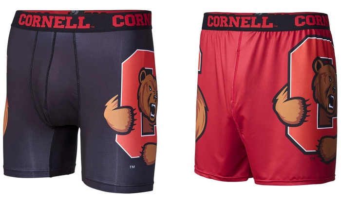 NCAA Cornell University Men's Briefs or Compression Shorts