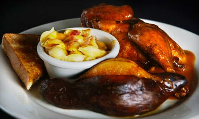 The Full Slab - Third Lake: Barbecue Meal with Ribs, Wings, Pulled Pork, and Drinks for Two or Four at The Full Slab in Third Lake (Up to 55% Off)