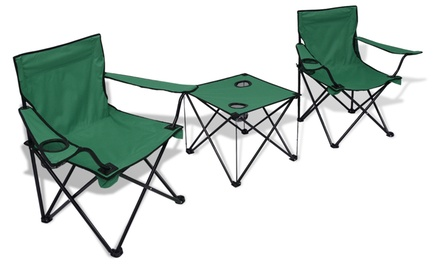 Conjunto de 2 sillas plegable Vida XL con opción a mesa