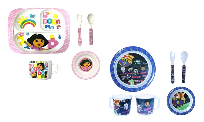 Attires Mena Trading: Five-Piece Kids' Licensed Characters Mealtime Melamine Sets from AED 49 (Up to 19% Off)