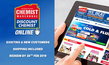 $10 to Spend at Chemist Warehouse Online Existing & New Customers Min Spend $70