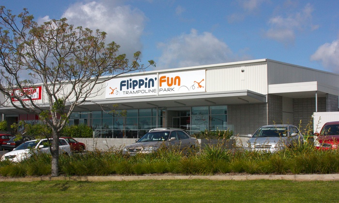 Flippin' Fun - Flippin' Fun: One-Hour Trampoline Park General Entry - One ($9) or Two People ($17) at Flippin' Fun, Auckland (Up to $34 Value)
