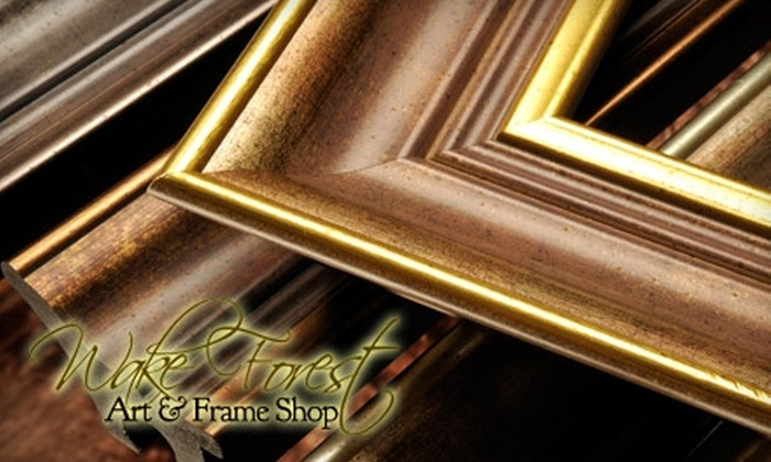 Wake Forest Art & Frame Shop - Wake Forest: $20 for $50 Worth of Custom Framing at Wake Forest Art & Frame Shop