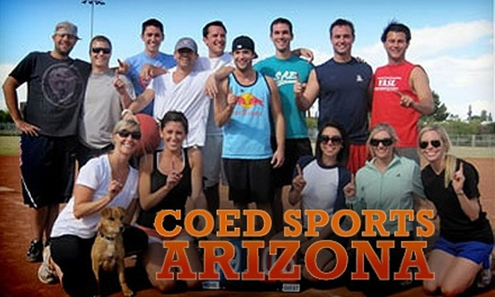 Coed Sports Arizona - Multiple Locations: $68 for Entry in a Coed Sports League from Coed Sports Arizona ($148 Value)