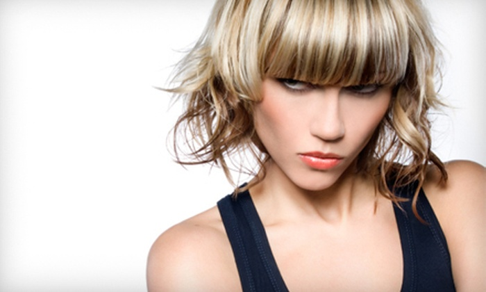 True Colors Hair & Nail Salon - Wells Avenue Neighborhood: Haircut and Deep-Conditioning Treatment or Haircut and Full Highlights at True Colors Hair & Nail Salon (Up to 59% Off)
