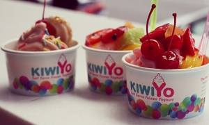 KiwiYo: Frozen Yoghurt with Two Toppings: Two ($8) or Eight People ($31) at KiwiYo, Two Locations (Up to $44 Value)