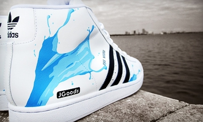 JGoods  - Minneapolis: $40 for One-Hour Custom Sneaker-Painting Class from JGoods ($100 Value). Two Dates Available.