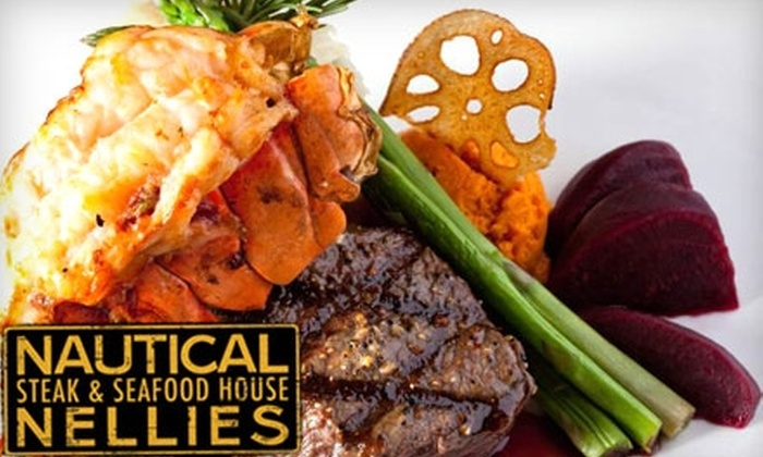 Nautical Nellies - Victoria: $20 for $40 Worth of Steaks, Seafood, and Drinks at Nautical Nellies