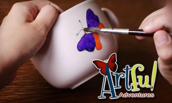 Artful Adventures - Briargate: $10 for $20 Worth of Pottery Painting, Mosaic Making, or Jewelry Making at Artful Adventures