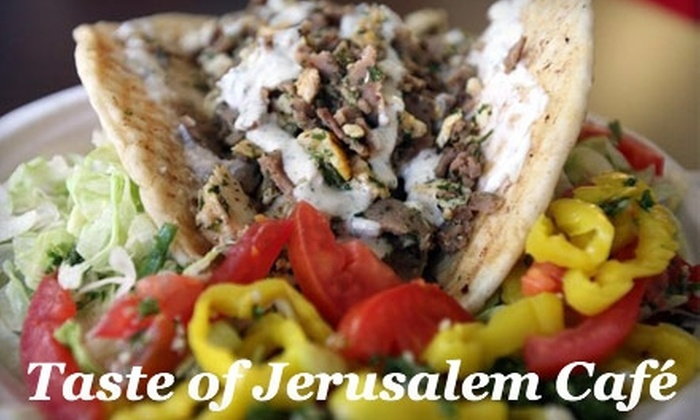Taste of Jerusalem  - Downtown Colorado Springs: $5 for $10 Worth of Authentic Middle Eastern Fare at Taste of Jerusalem