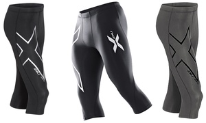2XU Men's 3/4-Length Compression Tights