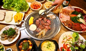 Restaurant Red & Green: All-You-Can-Eat Korean BBQ Buffet + Drinks for 2 ($49) or 4 People ($98) at Restaurant Red & Green (Up to $167.60 Value)