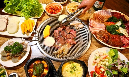 AllYouCanEat Korean Buffet + Wagyū Beef $79 or 4 People $149 at Restaurant Red & Green Up to $279.6 Value