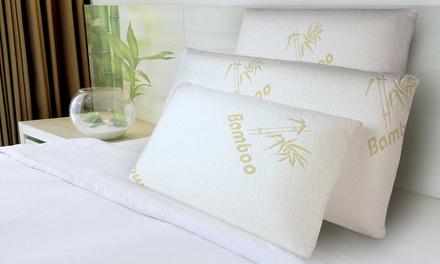 1, 2 ou 4 oreillers à mémoire de forme Bamboo Sampur