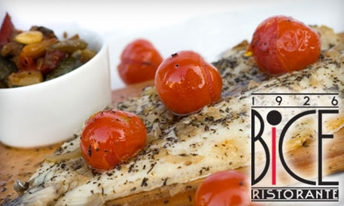Bice Ristorante - Old Naples: $20 for $40 Worth of Contemporary Italian Cuisine and Drinks at Bice Ristorante
