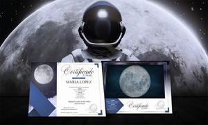 Quiero La Luna: Certificado digital o en papel de parcela asignada en la Luna desde 9,90 € en Quiero La Luna