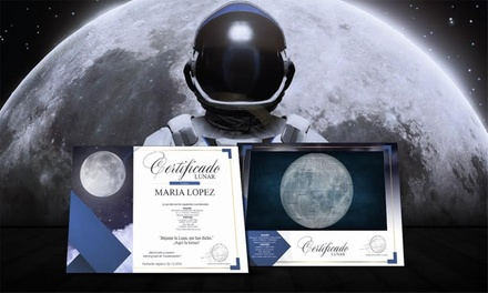 Certificado digital o en papel de parcela asignada en la Luna desde 9,90 € en Quiero La Luna